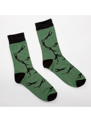 Носки Запорожец Обезьяна. Цвет: зеленый