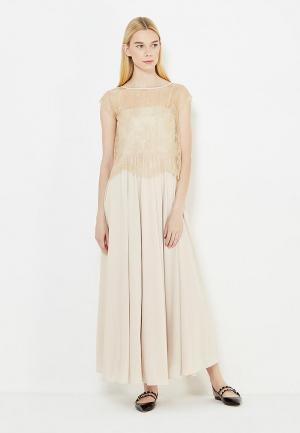 Платье Max&Co. Цвет: бежевый