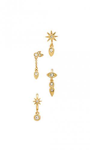 Свисающие серьги revel starburst Luv AJ. Цвет: металлический золотой
