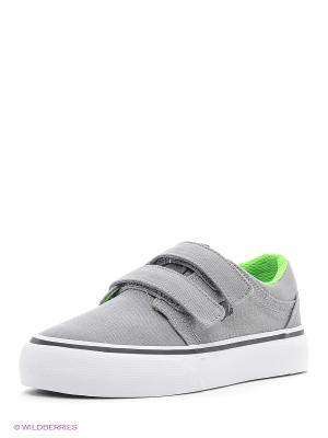 Кеды DC Shoes. Цвет: зеленый, серый