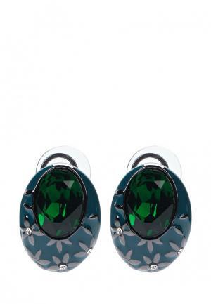 Серьги Art-Silver. Цвет: зеленый