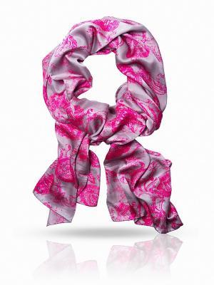 Платок MICHEL KATANA`. Цвет: розовый, серый