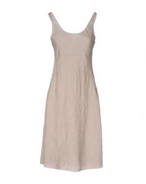 Платье до колена MALÌPARMI. Цвет: светло-серый