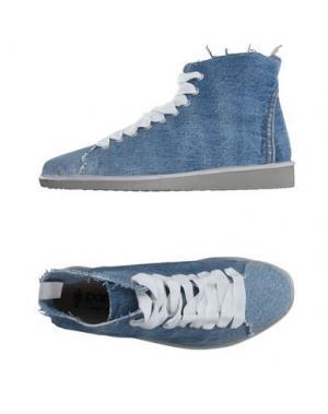 Высокие кеды и кроссовки PÀNCHIC. Цвет: синий
