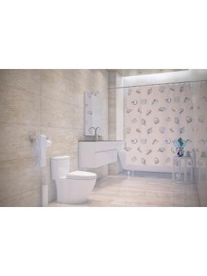 Штора д/ванн 180х200 Ostras (шт.) Bacchetta. Цвет: светло-серый, бежевый
