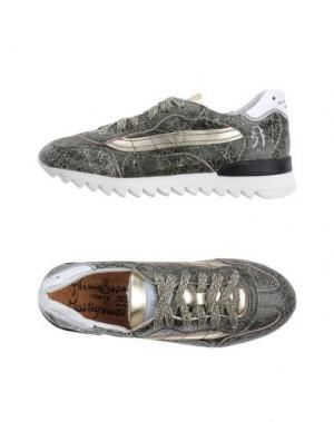 Низкие кеды и кроссовки PRIMABASE. Цвет: темно-зеленый