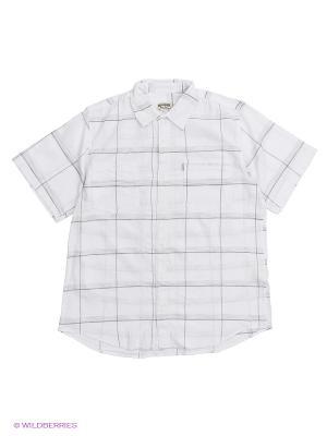 Рубашка Westrenger. Цвет: белый, светло-серый