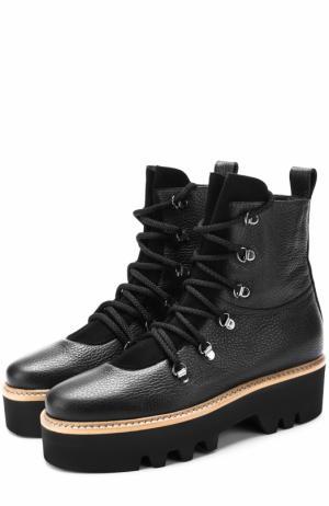 Кожаные ботинки Lago на шнуровке Walter Steiger. Цвет: черный