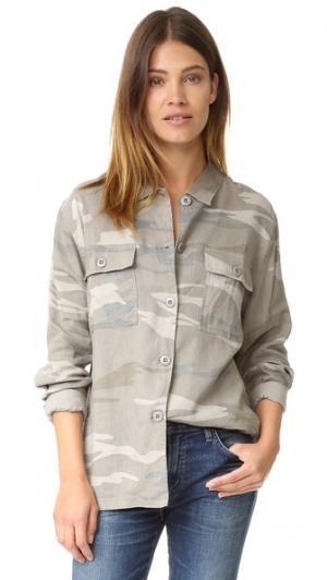 Камуфляжная рубашка с пуговицами Everett RAILS. Цвет: камуфляж