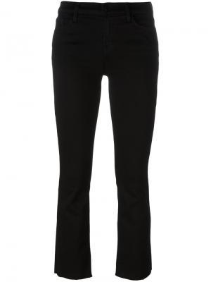 Расклешенные укороченные джинсы J Brand. Цвет: чёрный