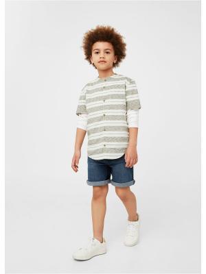 Рубашка - COPA Mango kids. Цвет: светло-бежевый