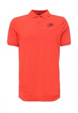 Поло Nike. Цвет: оранжевый