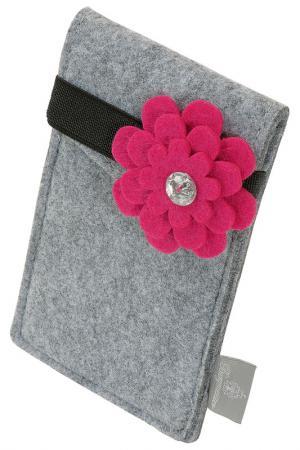 Сумка для смартфона Burgmeister. Цвет: pink and gray