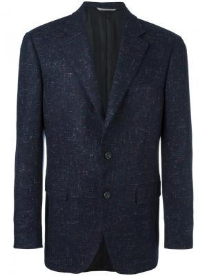 Твидовый пиджак Canali. Цвет: синий