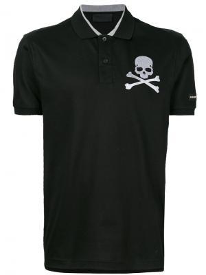 Рубашка-поло с вышитым черепом Philipp Plein. Цвет: чёрный