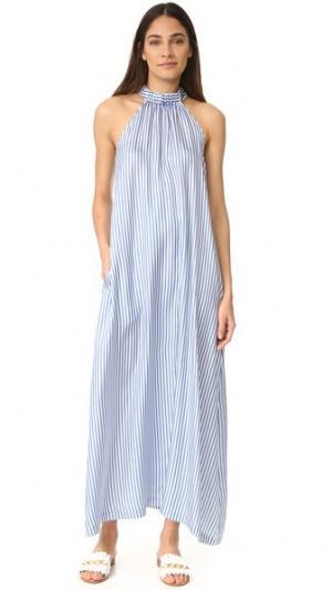 Платье Bermuda PAPER London. Цвет: голубой шелк в полоску
