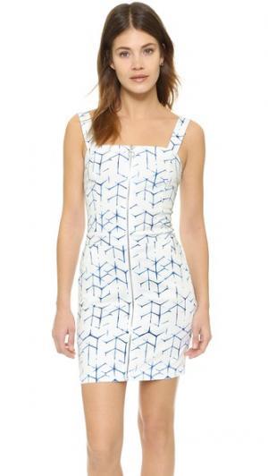 Платье с молнией спереди 3x1. Цвет: принт в стиле шибори