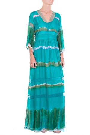 Платье Alberta Ferretti. Цвет: бирюзовый