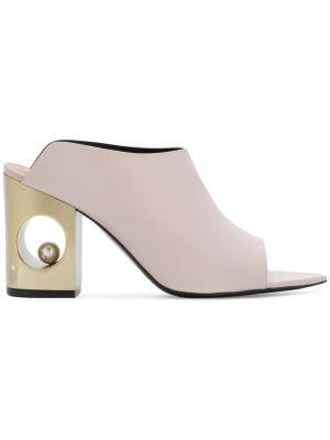 Sphere heel mules Coliac. Цвет: розовый и фиолетовый