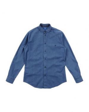 Джинсовая рубашка FAY JUNIOR. Цвет: синий