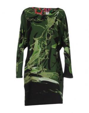 Короткое платье SAVE THE QUEEN. Цвет: зеленый