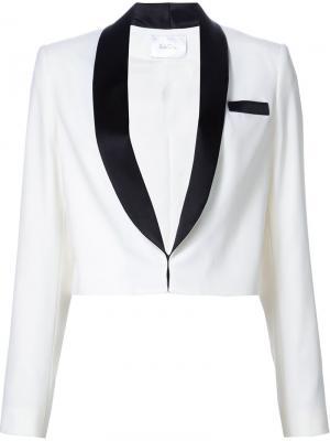 Пиджак-смокинг Racil. Цвет: белый