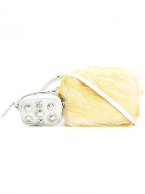 Декорированная поясная сумка Toga. Цвет: жёлтый и оранжевый