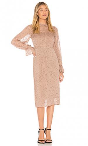 Платье с длинным рукавом allegra Line & Dot. Цвет: цвет загара
