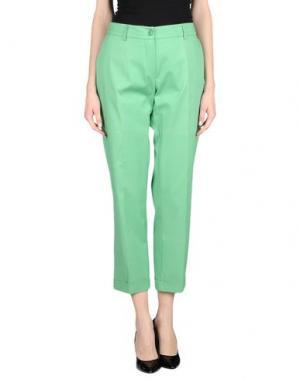 Повседневные брюки POIS. Цвет: светло-зеленый