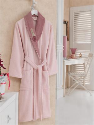 Халат банный Cotton Box. Цвет: розовый