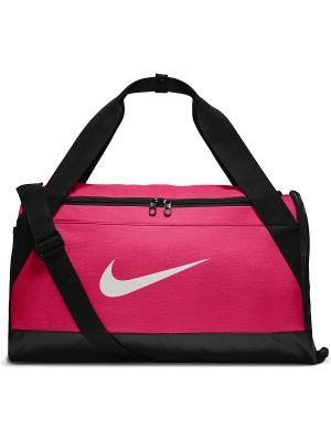 Сумка BRSLA S DUFF Nike. Цвет: розовый, белый, черный