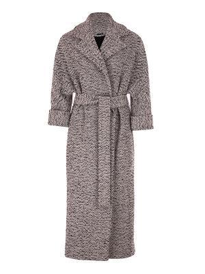 Пальто UONA. Цвет: серый меланж