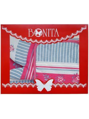 Полотенце кухонное BONITA. Цвет: серо-голубой, розовый, белый