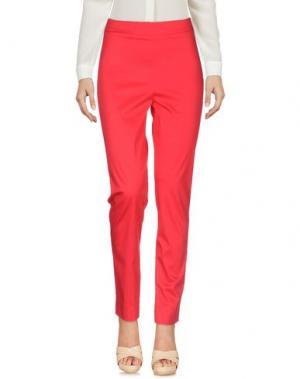 Повседневные брюки SAVE THE QUEEN. Цвет: красный