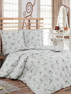 Комплект постельного белья Тет-а-Тет. Цвет: серый