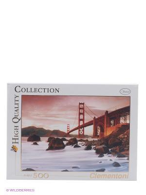 Пазл СанФранциско, Мост Золотые ворота, 500 элементов Clementoni. Цвет: коричневый