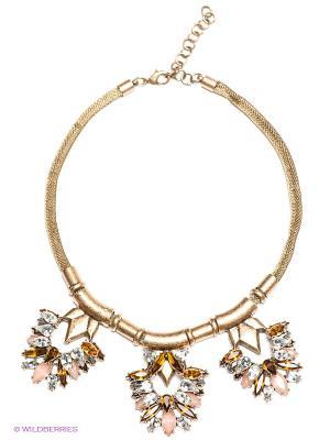 Колье Milana Style. Цвет: золотистый, белый, светло-коричневый