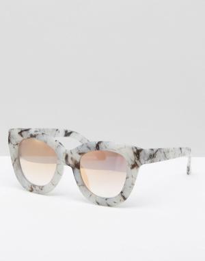 Quay Australia Эксклюзивные солнцезащитные очки с линзами цвета розового золота. Цвет: серый