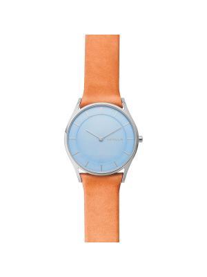 Часы SKAGEN. Цвет: светло-голубой, светло-оранжевый
