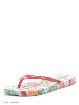 Шлепанцы Ipanema. Цвет: зеленый, розовый