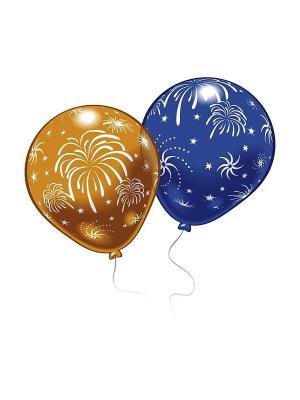 8 шариков с рисунком Салют Everts. Цвет: голубой