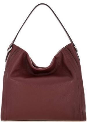 Бордовая кожаная сумка на молнии Gianni Chiarini. Цвет: бордовый