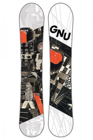 Сноуборд  Hyak Btx GNU. Цвет: белый,черный