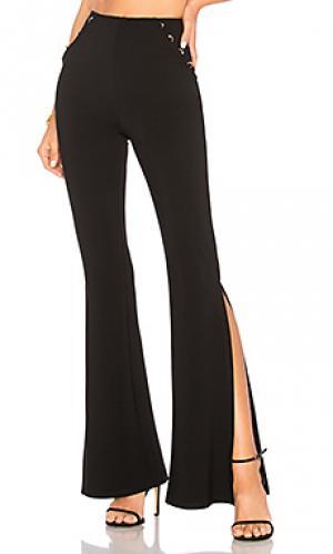 Широкие брюки с высоким поясом kyler h:ours. Цвет: черный