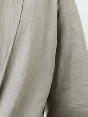 Пиджак с мятым эффектом Ma+. Цвет: телесный
