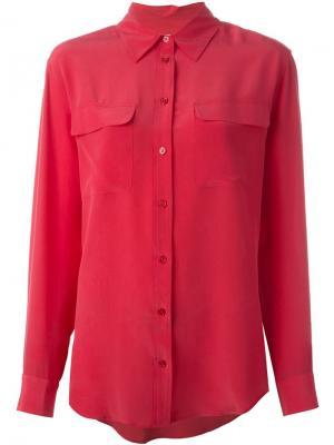 Рубашка с карманами Equipment. Цвет: розовый и фиолетовый
