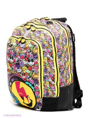 Рюкзак PROFF. Цвет: желтый, черный, бирюзовый, фуксия