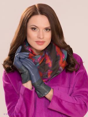 Перчатки MICHEL KATANA`. Цвет: голубой, зеленый, серый