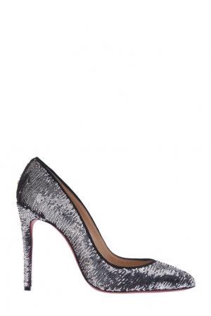 Туфли с пайетками Pigalle Follies 100 Christian Louboutin. Цвет: multicolor