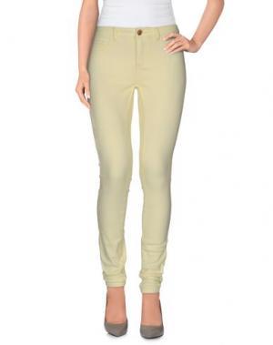 Повседневные брюки JACQUELINE de YONG. Цвет: светло-желтый